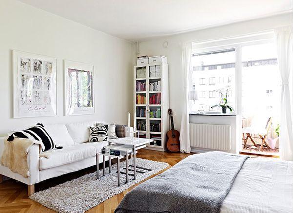 Скандинавский дизайн квартиры студии