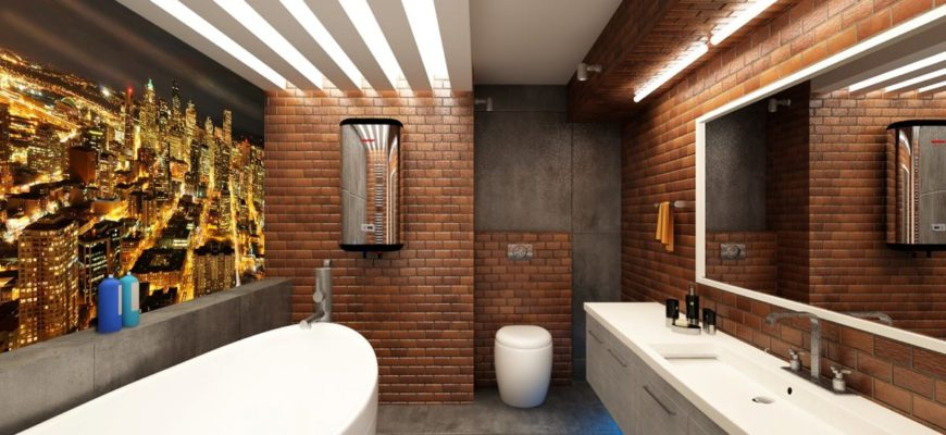 Как самостоятельно оформить ванную в стиле лофт