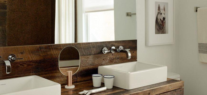 Ванная в скандинавском стиле — основные атрибуты (часть 3) Столешница под раковину, светлые цвета