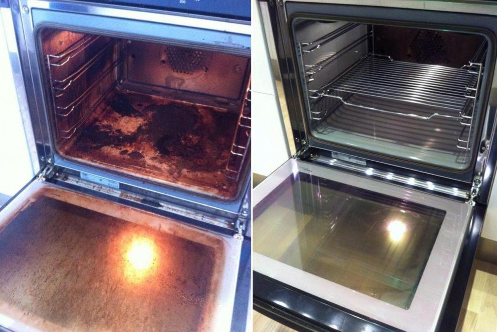 Как легко очистить стекло духовки от жира