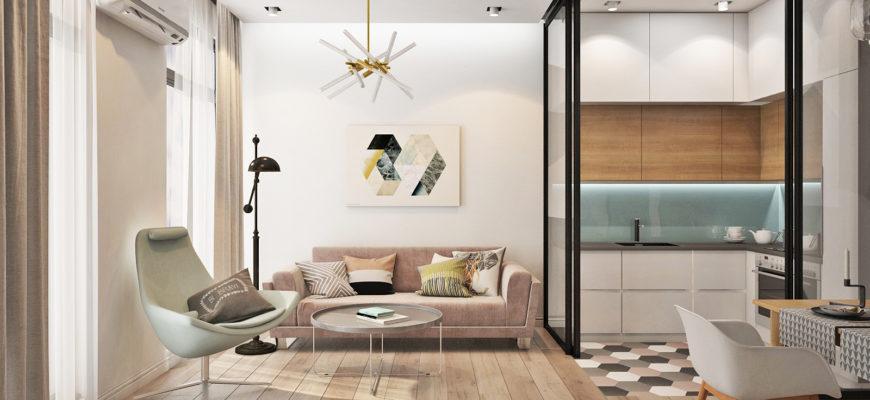 Квартира-студия в скандинавском стиле: планировка и зонирование