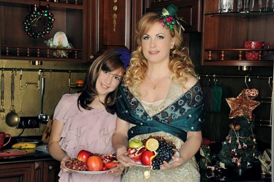Светлана Разина с дочкой