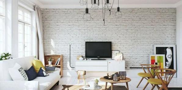 Идеальное сочетание кирпичной стены с белыми стенами