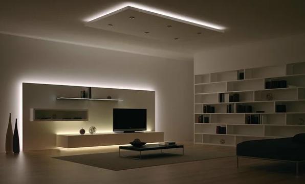 Использование светодиодных лент в интерьере