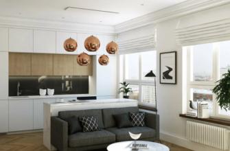 Кухня + гостиная: секреты зонирования