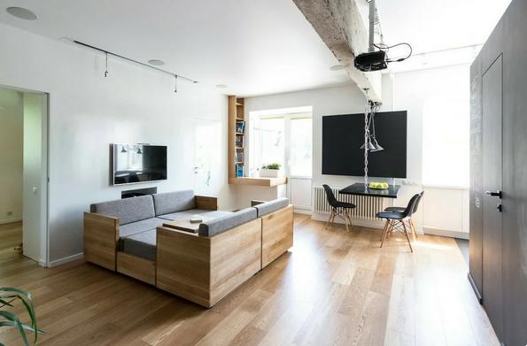 Собранный диван