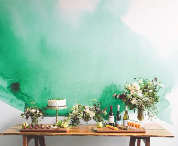 Зеленая акварель