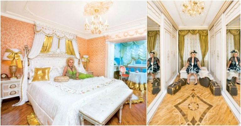 Спальня певицы и вид на коридор