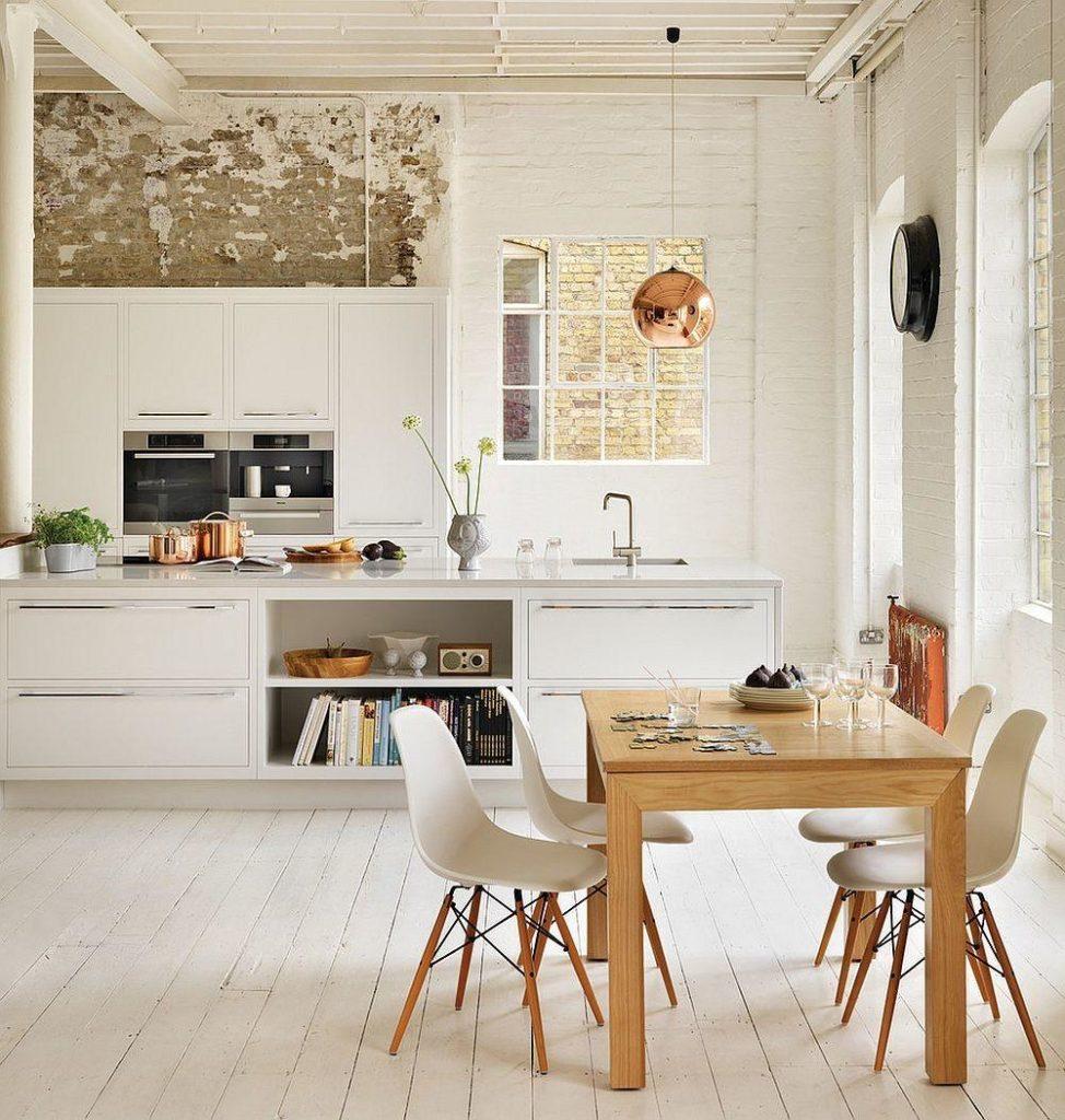 Натуральные материалы на кухне