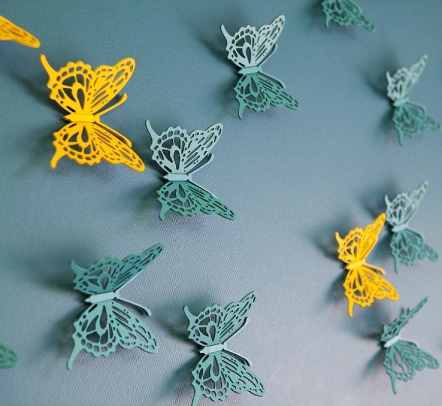 Бабочки около телевизора