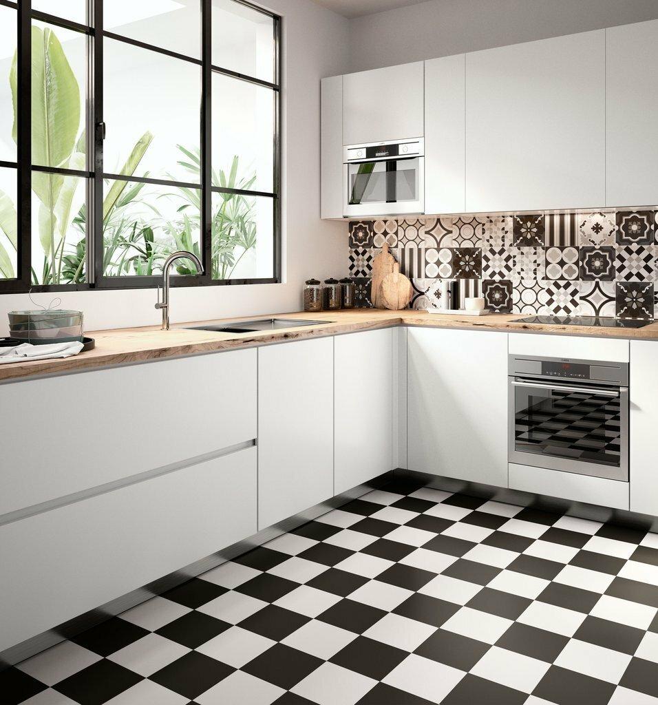 Использование плитки в отделке кухни