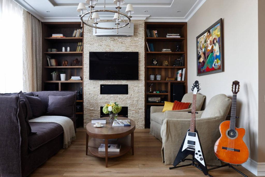Вариант дивана с двумя креслами напротив