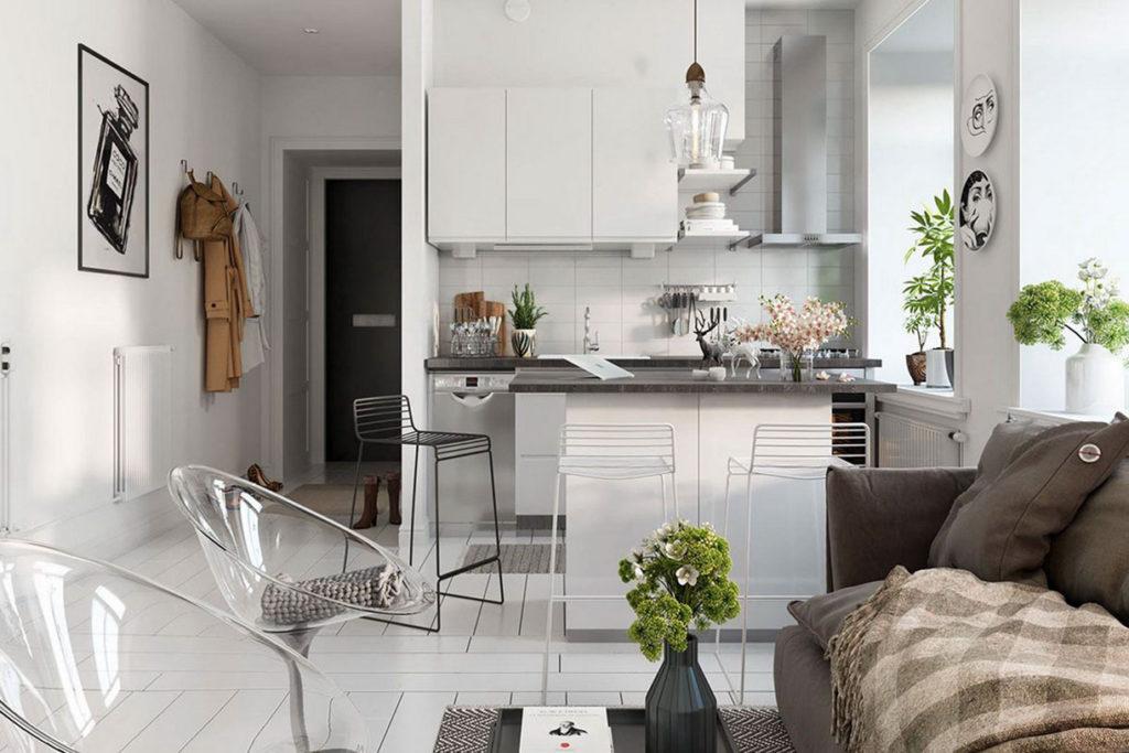 Часть мебели может являться акцентами в помещении