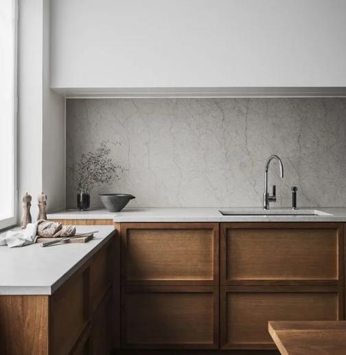 Прямые линии в дизайне кухни